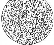 Coloriage Magique Lettres de l'alphabet maternelle