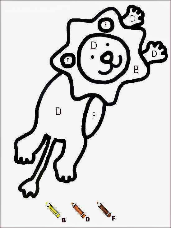 Coloriage et dessins gratuits Magique Lettres Le Lion à imprimer