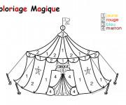 Coloriage et dessins gratuit Magique Maternelle du cirque à imprimer