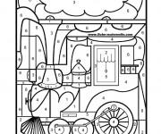 Coloriage et dessins gratuit Magique Maternelle numéroté à imprimer