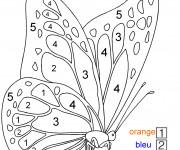 Coloriage Magique Maternelle Un papillon en numéros