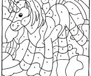Coloriage et dessins gratuit Magique Maternelle Unicorn à imprimer