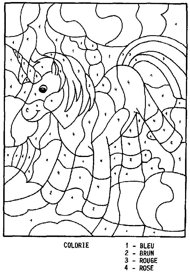 Coloriage Magique Maternelle Unicorn Dessin Gratuit A Imprimer