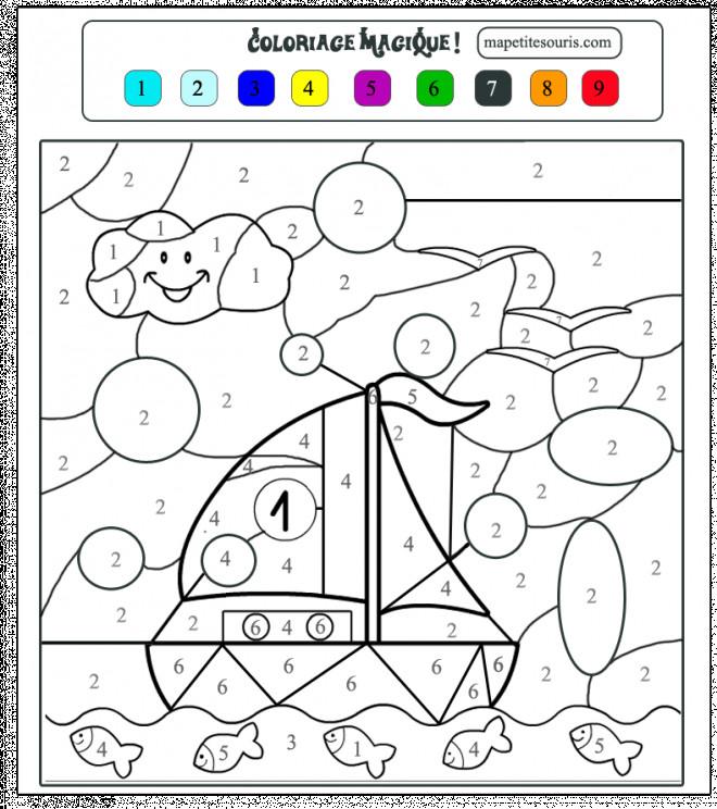 Coloriage Magique Moyenne Section Dessin Gratuit à Imprimer