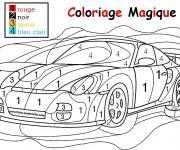 Coloriage Magique numération de voiture