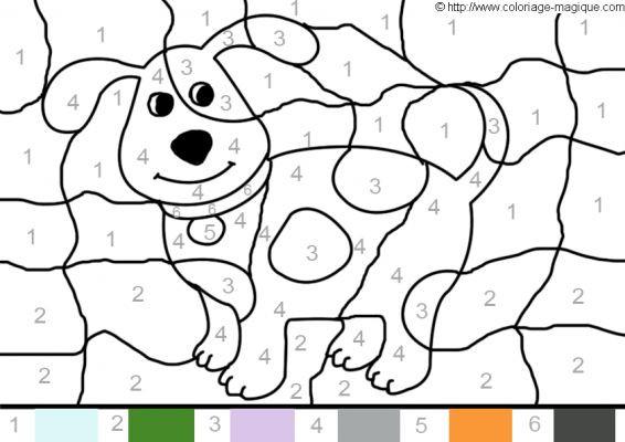 Coloriage Magique Chien Imprimer.Coloriage Magique Numeration Le Chien Dessin Gratuit A Imprimer