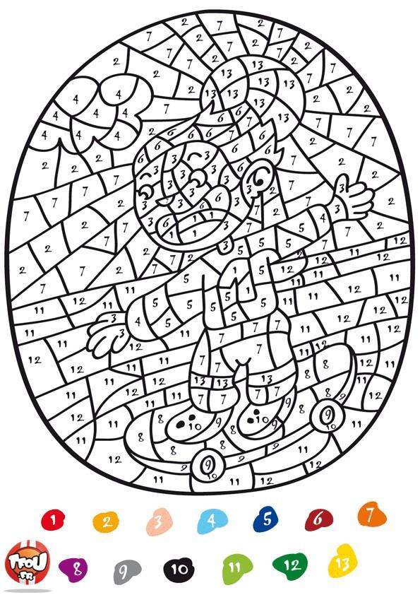 Coloriage et dessins gratuits Addition Magique Skateur à imprimer