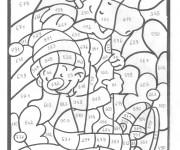 Coloriage et dessins gratuit Magique Chiffres en noir à imprimer