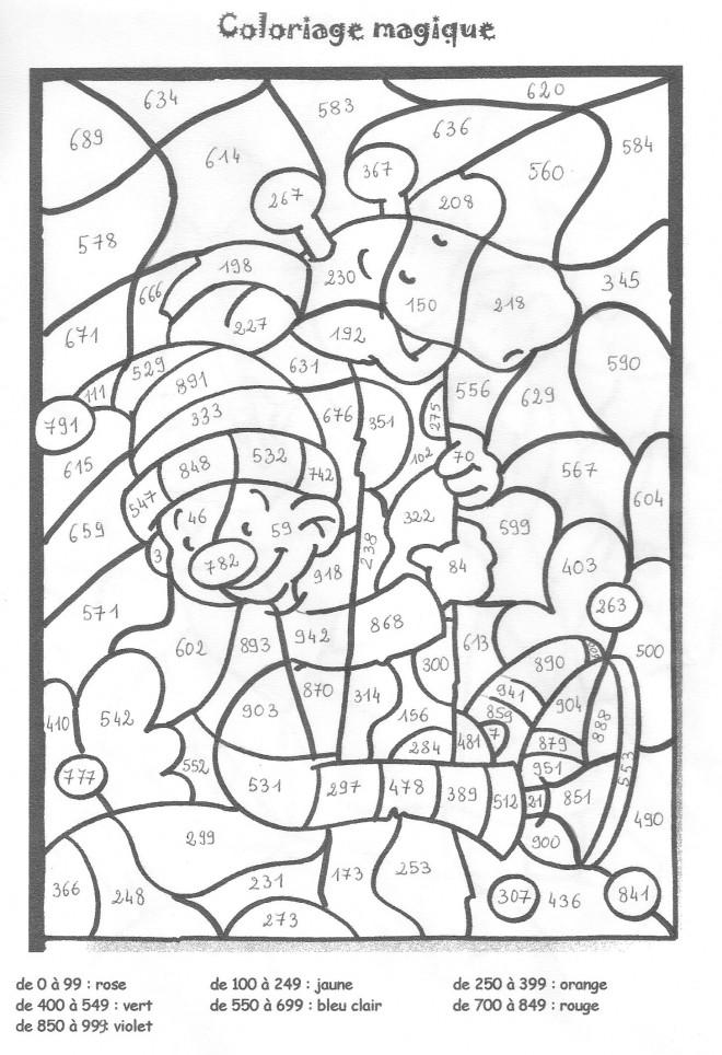 Coloriage et dessins gratuits Magique Chiffres en noir à imprimer