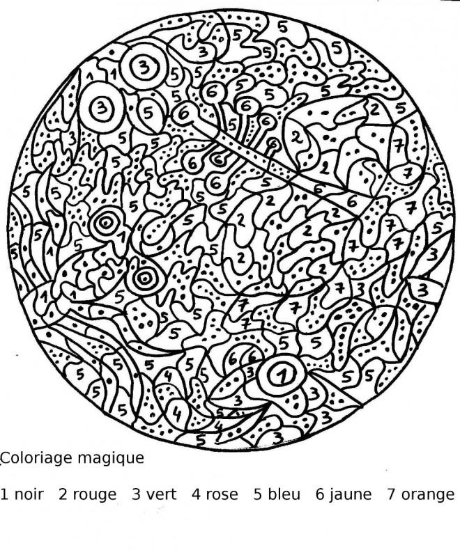 Coloriage et dessins gratuits Magiques Chiffres Mandala à imprimer