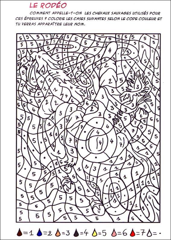 Coloriage et dessins gratuits Magiques Le Rodéo à imprimer