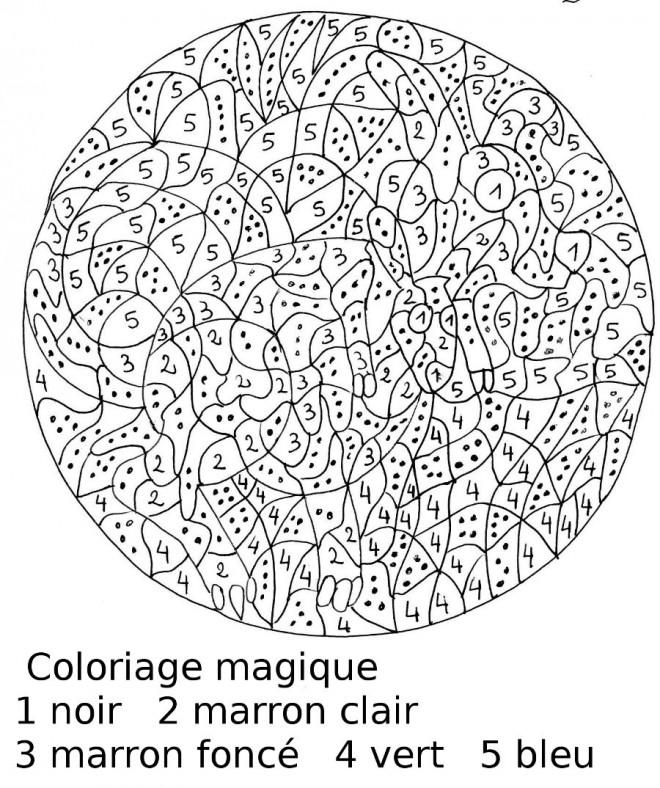 Coloriage et dessins gratuits Magiques Numération pour enfant à imprimer