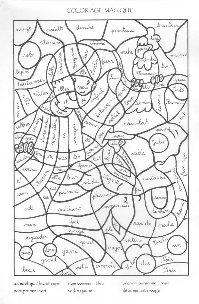 Coloriage et dessins gratuits Magiques Vocabulaire à imprimer