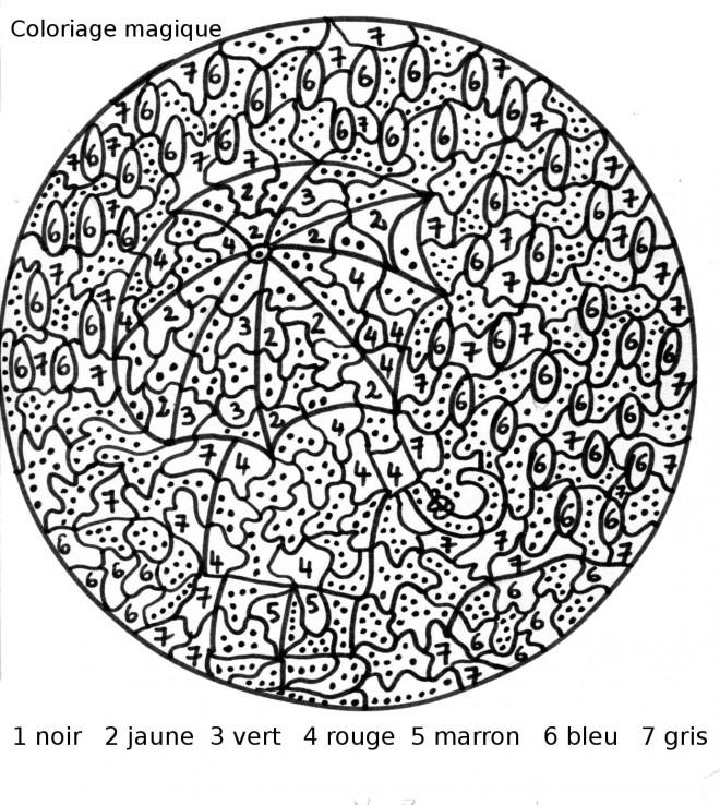 Coloriage et dessins gratuits Nombres Magiques mandala à imprimer