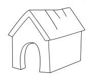 Coloriage et dessins gratuit Maison de Chien à imprimer