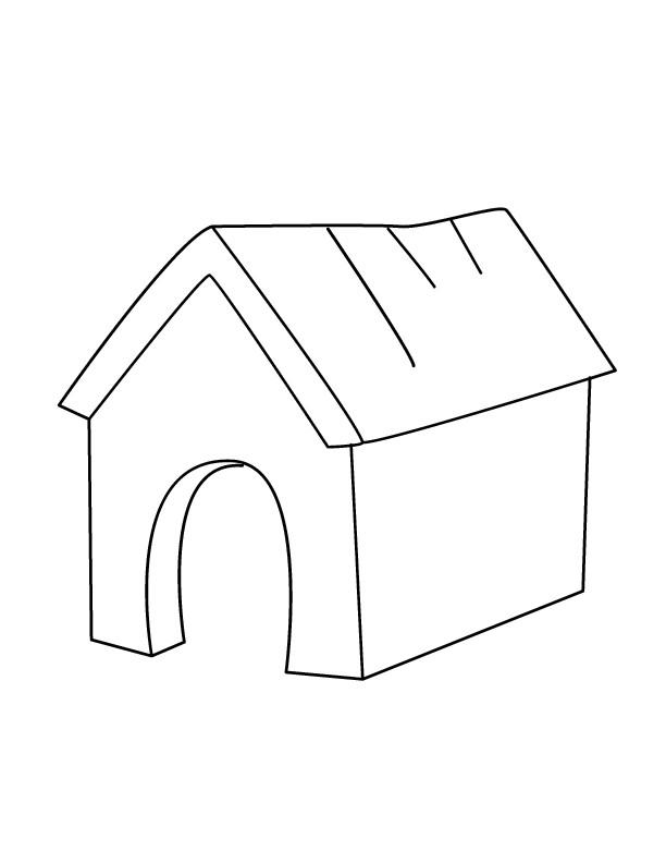 Coloriage et dessins gratuits Maison de Chien à imprimer