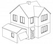 Coloriage et dessins gratuit Maison moderne à imprimer