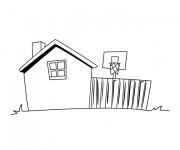 Coloriage dessin  Maison Simple 10