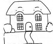 Coloriage dessin  Maison Simple 16
