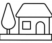 Coloriage dessin  Maison Simple 17