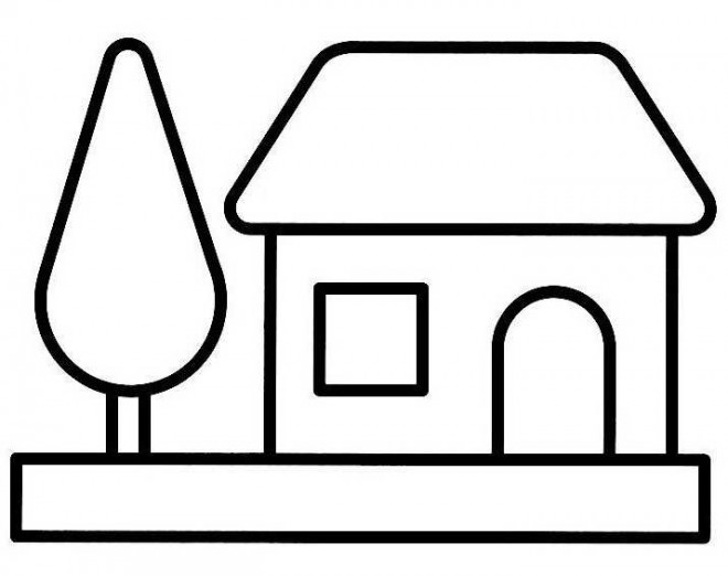 Coloriage maison simple 17 dessin gratuit imprimer - Dessin maison a imprimer ...
