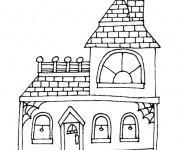 Coloriage dessin  Maison Simple 18