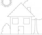 Coloriage dessin  Maison Simple 2
