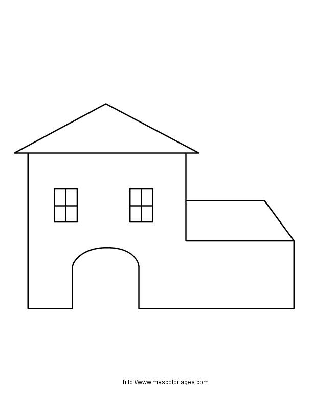 Coloriage et dessins gratuits Maison Simple en Ligne à imprimer