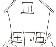 Coloriage dessin  Maisons 1