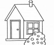 Coloriage dessin  Maisons 11