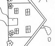 Coloriage dessin  Maisons 13