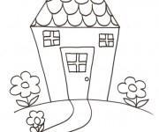 Coloriage dessin  Maisons 16
