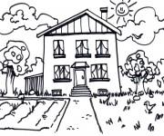 Coloriage dessin  Maisons 31