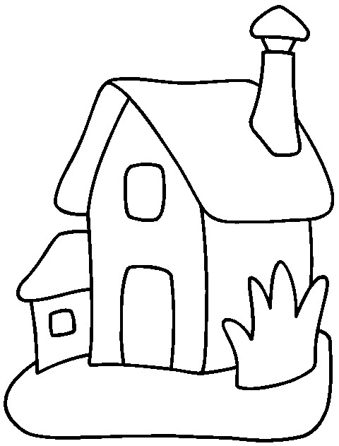Coloriage et dessins gratuits Une Maison Simple à colorier à imprimer