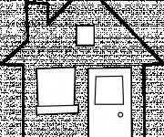Coloriage Maison vecteur