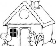 Coloriage Maisons 12