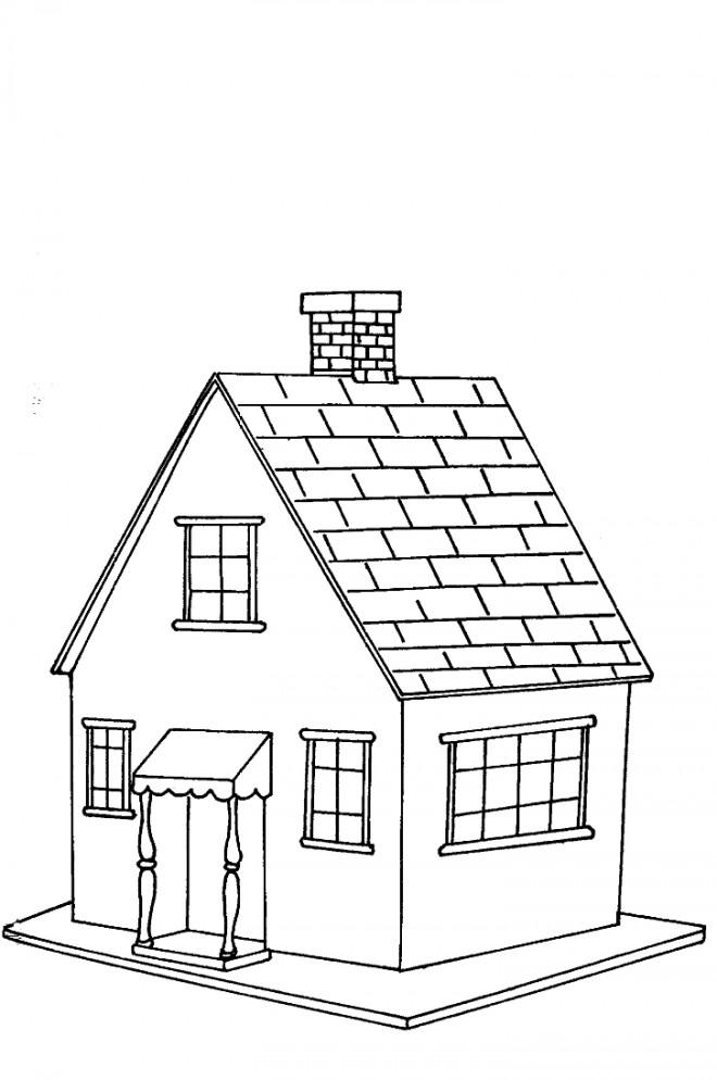 Coloriage et dessins gratuits Maisons 15 à imprimer