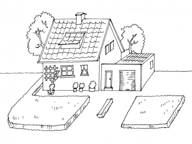 Coloriage et dessins gratuits Maisons 20 à imprimer