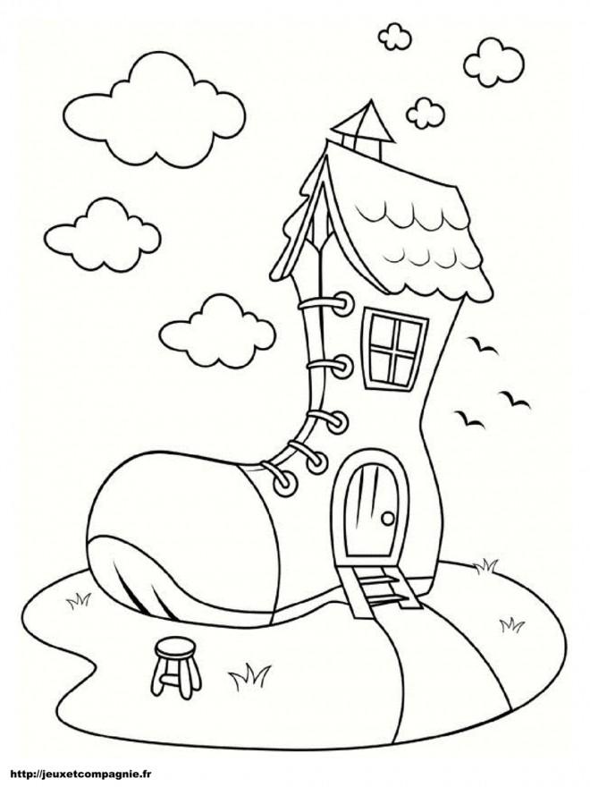 Coloriage Maisons gratuit à imprimer liste 20 à 40