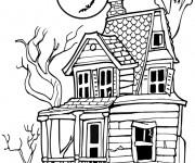 Coloriage Maisons 25