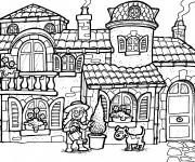 Coloriage Maisons 26