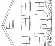 Coloriage Maisons 29