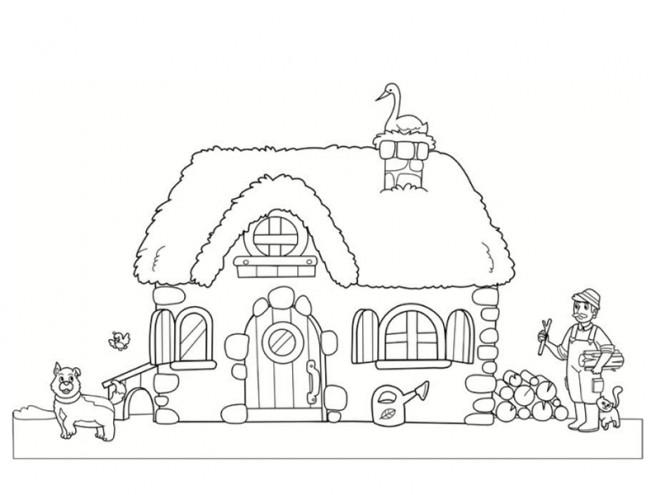 Coloriage et dessins gratuits Maisons 30 à imprimer