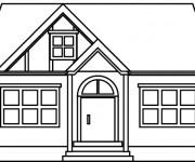 Coloriage Maisons 34