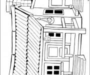 Coloriage Maisons 36