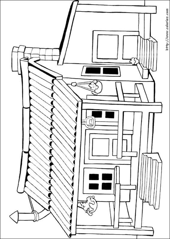 Coloriage et dessins gratuits Maisons 36 à imprimer