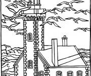 Coloriage Maisons 40
