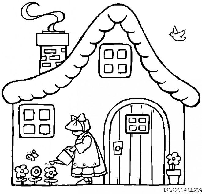 Coloriage et dessins gratuits Maisons 43 à imprimer