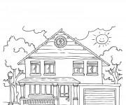 Coloriage Maisons 45