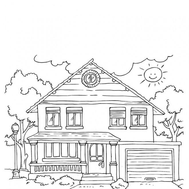 Coloriage Maisons 45 dessin gratuit à imprimer